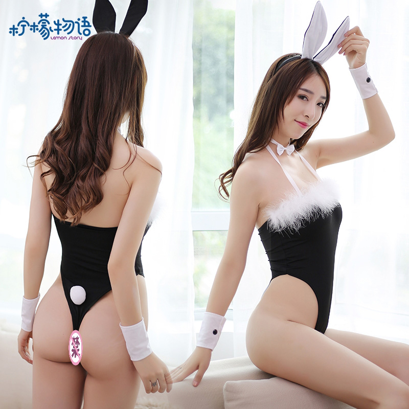 兔女郎比基尼制服性感套装 柠檬物语-套装+兔耳朵